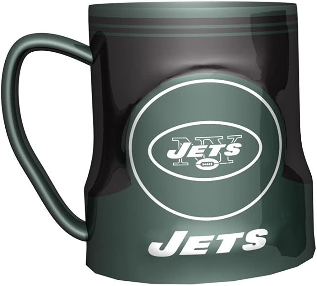 Boelter Brands NFL New York Jets 472926 Coffee Mug, Team Color, 18 oz