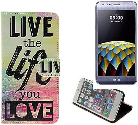 K-S-Trade 360° Funda Smartphone para LG Electronics X CAM, Live ...