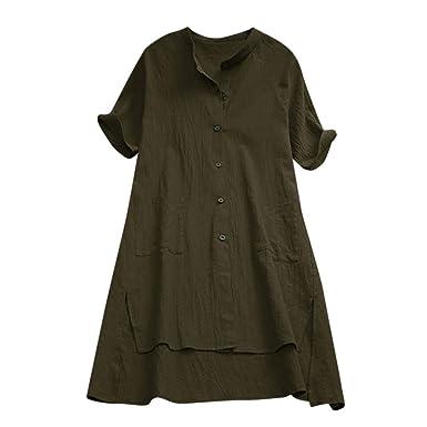aae3ba3283fd Image Unavailable. Image not available for. Color: Lelili Women Fashion  Dress Shirt Short Sleeve ...