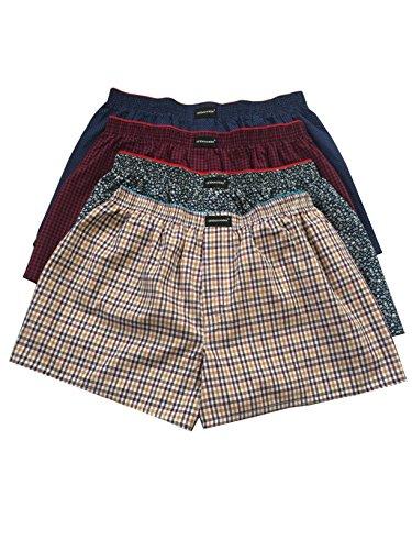 Soft Cotton Woven Boxer Short (Assorted Dark Colors, Brown, Navy, Dark Grey, Dark Red etc.) ()