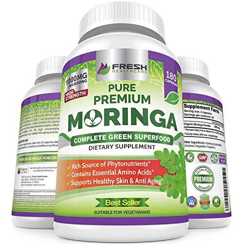 Moringa Oleifera 180 Capsules