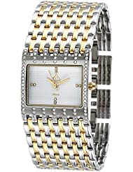 Everest Womens EW-10018-11 Watch - Gold Color 2 Tone - White