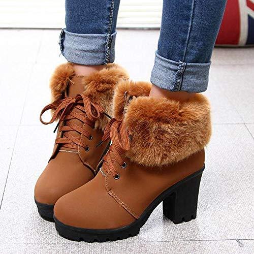 Las Marrón Gastadas Nieve Gamuza Mujer Bazhahei Corta La By Flocada Algodón Para Señoras Zapatos 4 Zapatillas Invierno Cortas Botas Más De Terciopelo w0aqRxp0Z