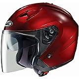 HJC IS-33 Open-Face Motorcycle Helmet (Wine, Medium)