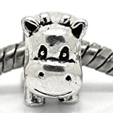 """""""Cow Charm"""" Bead Spacer For Snake Chain Charm Bracelet"""