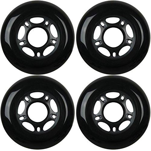 KSS Outdoor Asphalt Formula 89A Inline Skate X4 Wheels, Black, -