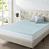 Egg Shell Mattress Topper Zinus 2 Inch Swirl Gel Memory Foam Air Flow Topper, Queen