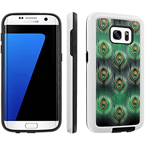 [Galaxy S7] [5.1 Screen] Armor Case [Skinguardz] [White/Black] Shock Absorbent Hybrid - [Peacock Feathers] for Samsung Galaxy S7 / GS7 Sales