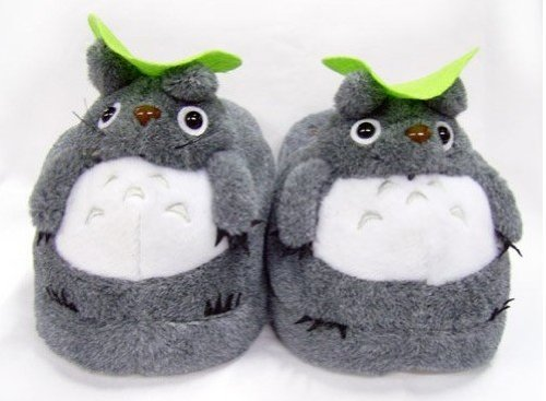 Totoro Warm Cartoon Plush Slippers Cartoon Cotton Shoes