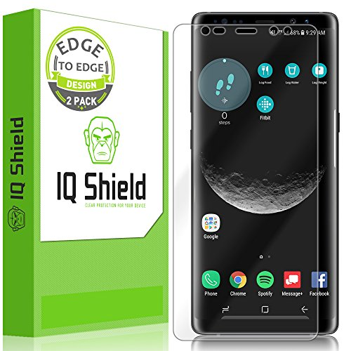 Galaxy Note 8 Screen Protector (2-Pack), IQ Shield LiQuidSkin Full Coverage Screen Protector for Galaxy Note 8 (Maximum Coverage, Edge to Edge) HD Clear Anti-Bubble Film