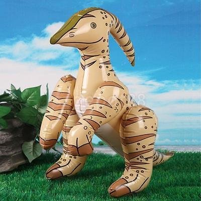 60cm Inflatable Blow-up Parasaurolophus Dinosaur Kids Toy Party Favor Gift by uptogethertek
