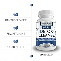 Detox Cleanse Safe and All Natural, Perfect Blend For Cleansing and Detoxifying, Great To Flush Toxins, Impurities, and Waste The All Natural Way. 60 capsules