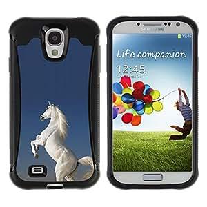 Suave TPU GEL Carcasa Funda Silicona Blando Estuche Caso de protección (para) Samsung Galaxy S4 IV I9500 / CECELL Phone case / / White Horse Desert Wild Magical Unicorn /