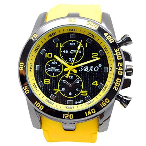 Men Wrist Watch - SBAO Stainless Steel Luxury Sport Analog Quartz Modern Men Fashion Wrist Watch - Modern Fashion Male