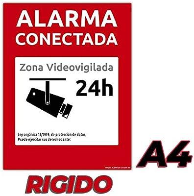 Cartel-Pegatina Alarma conectada disuasorio Zona vigilada ...