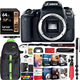 Canon EOS 77D 24.2 MP CMOS (APS-C) Digital SLR Camera with Wi-Fi & Bluetooth Body Bundle with 64GB Memory Card, Photo and Video Professional Editing Suite and Accessories (11 Items)