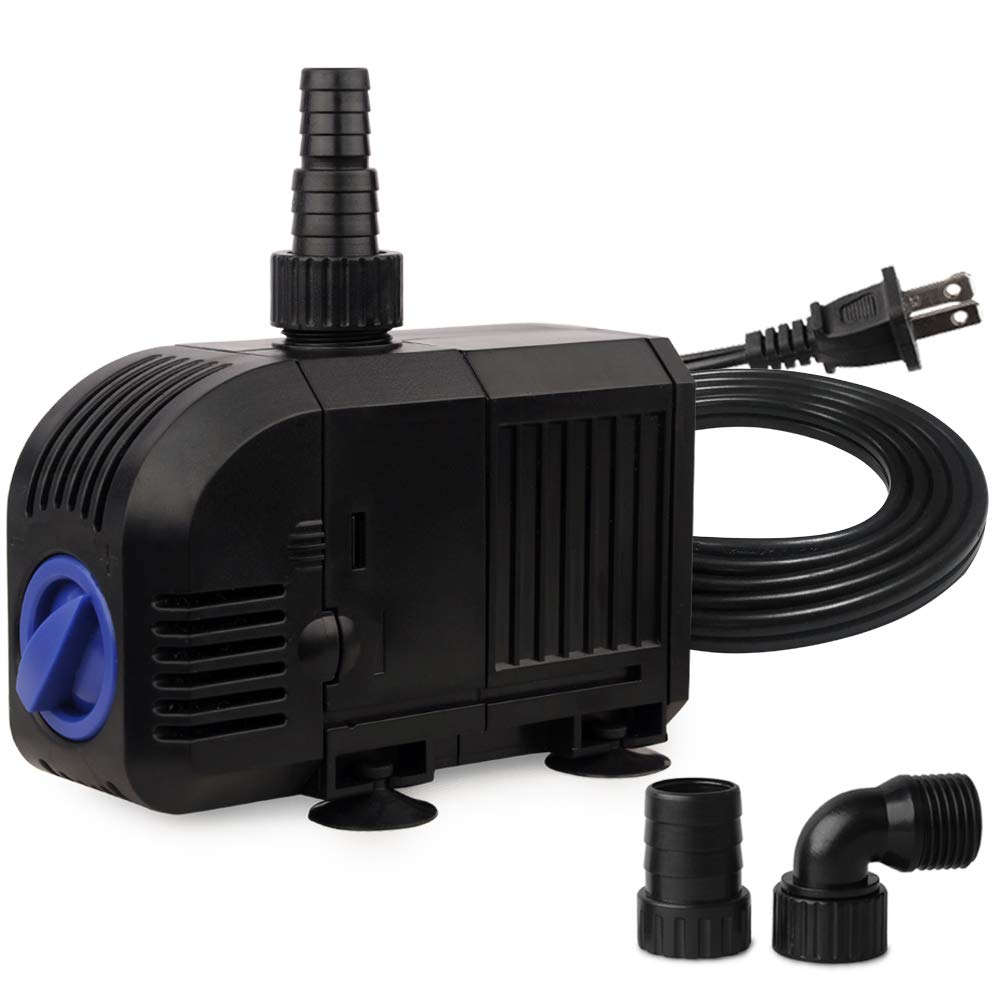 FREESEA 25W 400GPH Submersible Pump for Pond Fountain, Aquarium Fish Tank, Hydroponics, aquaponic