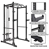 papababe Power Cage with LAT Pulldown 1200-Pound