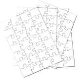 """Inovart Puzzle-It 28-Piece Blank Puzzle, 24 Puzzles Per Package, 5-1/2"""" x 8"""", White"""
