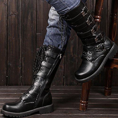 da shoes Scarpe Jiuyue pelle fibbia A uomo Stringate in con in met pelle dEqr558n