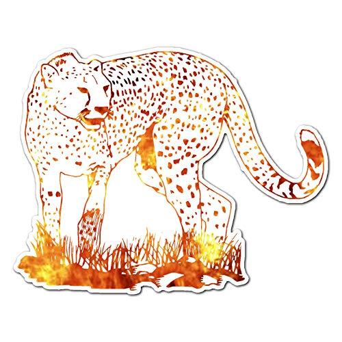 Cheetah in Savannah Grass - Vinyl Decal Sticker - 7.25