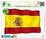 Spain Spanish Flag Vinyl Car Bumper Window Sticker 3