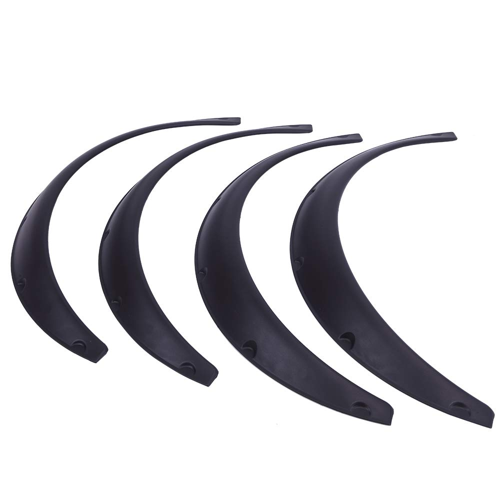 SUNRODA 4Pcs 33//840mm Universal Flexible Car Fender Flares Extra Wide Body Wheel Arches