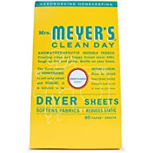 Mrs. Meyer's Clean Day Dryer Sheets, Honeysuckle, 80 ct