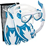 Cressi Rocks Kids Set, White/Light Blue, S/M