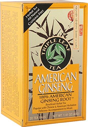 Korean Ginseng Tea - Triple Leaf Brand Tea, American Ginseng, 20-Count