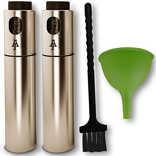 Oil Sprayer For Cooking| Stainless Steel Refillable Olive Oil Mister and Spray Bottle| for Barbecue and Making Salad| for Air Fryer| Clog Free with Extra Cleaning Brush by AJ Gear