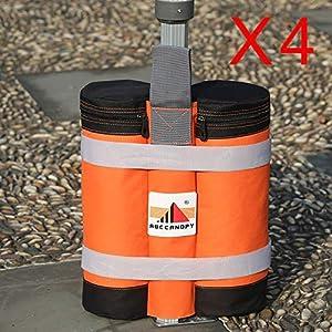 ABCCANOPY - Set di 4 sacchi per pesi per gazebo pop-up di qualità industriale, super resistenti 51Nubuw14OL. SS300