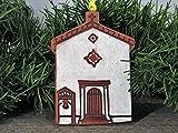 4'' Christmas Tree Ornament San Rafael Arcangel California Mission Church Southwest Handmade Terracotta Clay Art Holiday Decor