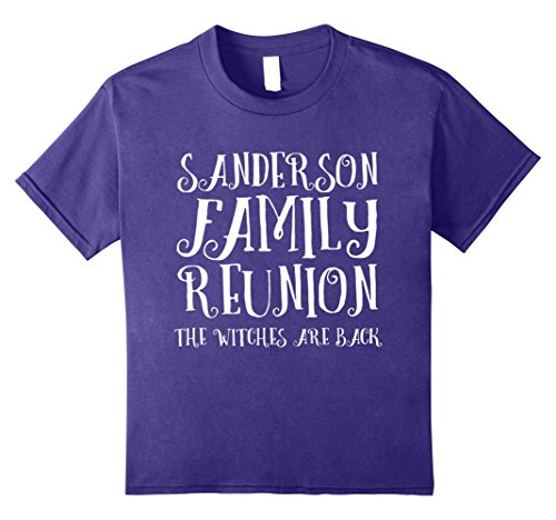Sanderson Sister Costumes (Kids Sanderson Family Reunion Funny Halloween T-Shirt 8 Purple)
