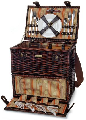 Willow BBQ Picnic Basket - Picnic and Beyond by Picnic & Beyond