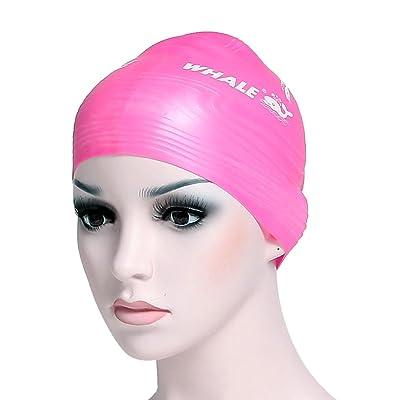 100% de matériaux souple en silicone Sports aquatiques sculpter capuchon Série 3d Forme profilée réduit les faire glisser de natation Caps