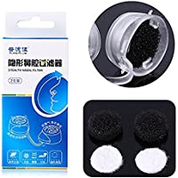 Nose Filter for Allergies PM2.5 Dust N95 Nose Mask Stealth Nasal Filter (Medium, 5pairs of frames+35pairs filters)