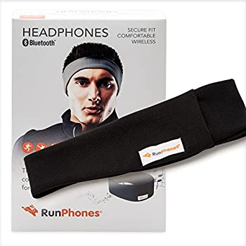 RunPhones Wireless Exercise Headphones | Bluetooth Easily Connects to Almost Any Device | Ideal for Workouts | Slim Speakers In a Moisture-Wicking Headband | Up to 13 Hours Playback | New Model 2017