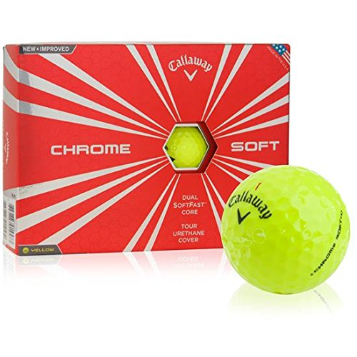 Callaway Chrome Soft Golf Balls, Prior Generation, (One Dozen), Yellow (Pro V Golf Balls Best Price)