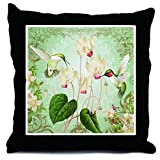 CafePress Modern Vintage French Hummingbirds - Decor Throw Pillow (18''x18'')