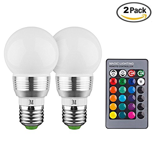 KOBRA LED Bulb Color Changing Light Bulb with Remote Control (2 Pack)16 Different Color Choices Smooth, Flash or Strobe Mode- Premium Quality & Energy Saving Retro LED Lamp - Blue Led Lamp Light