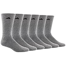 adidas Men's Athletic Crew Socks (6-Pack)