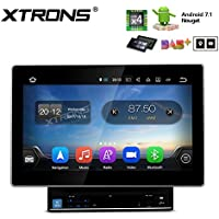 XTRONS 10.1 Inch Android 7.1 Quad Core HD Digital Capacitive Touch Screen Car Stereo DVD Player Radio GPS Bluetooth Wifi Screen Mirroring Function OBD2 TPMS