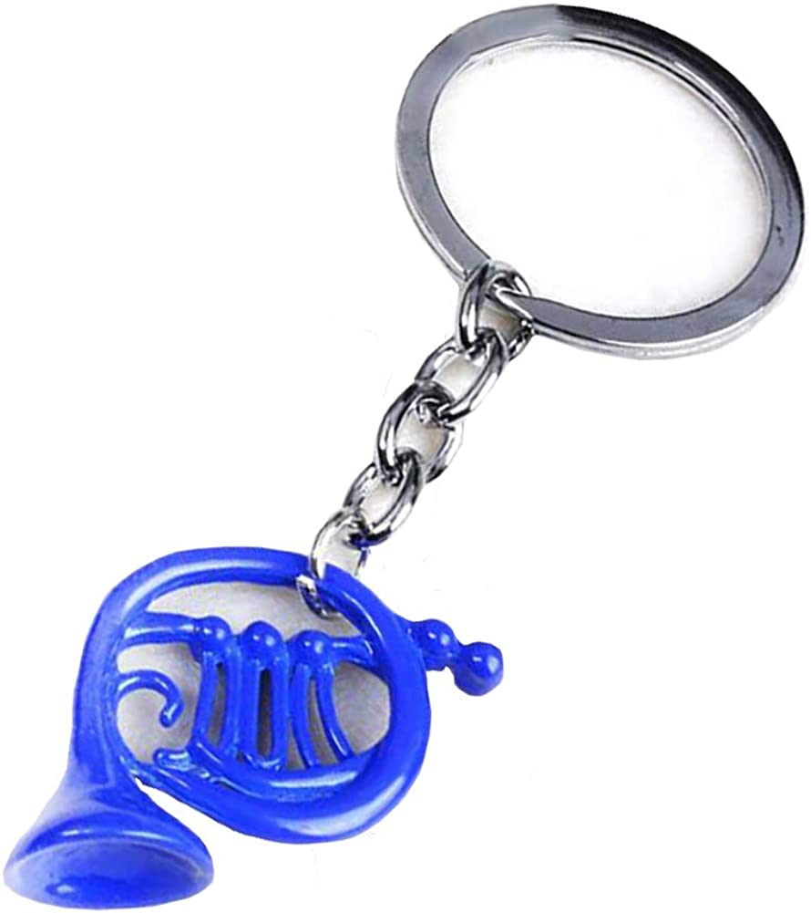 Blue French Horn Pendant Keychain Accessories Props Decorative How I Meet Your Mother Cos