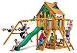 Modern Chateau Treehouse Swing Set with Amber Posts