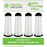 4 HEPA Filters for Hoover C2401 Commercial & Royal Backpack Vacuums; Compare to Hoover Part Nos. 2KE2110000 & 2-KE2110-000; Designed & Engineered by Think Crucial