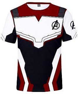 HUASON Vengadores de la camiseta del super héroe de Marvel Quantum Reino héroe de manga corta S para Hombres: Amazon.es: Ropa y accesorios