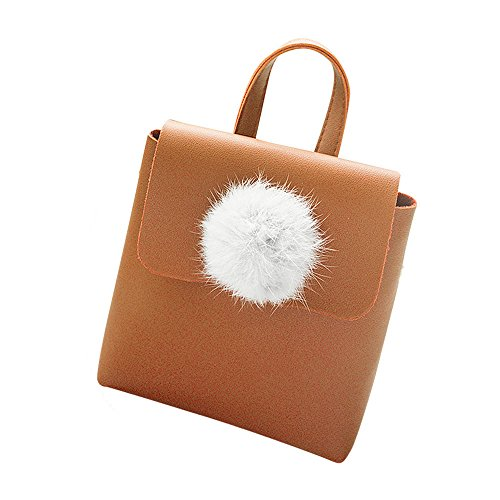 Mode à Pure Sac Bandoulière Couverture Téléphone solide bandoulière Bag Sac Billes à Couleur De Rawdah Crossbody à Sac Magnétique Marron Femmes Hairball vCSxqwdw0