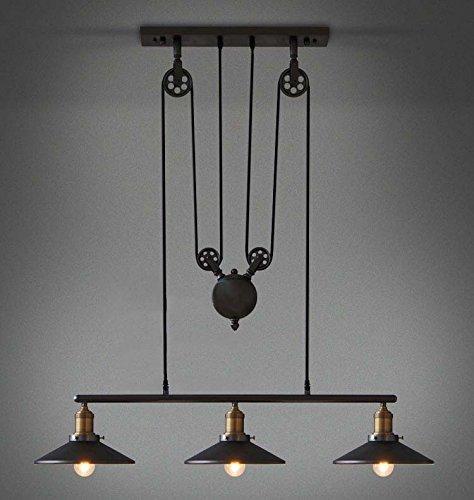 Light Fixtures Uae: YANGCAN Loft Vintage Retro Wrought Iron Black Chandelier