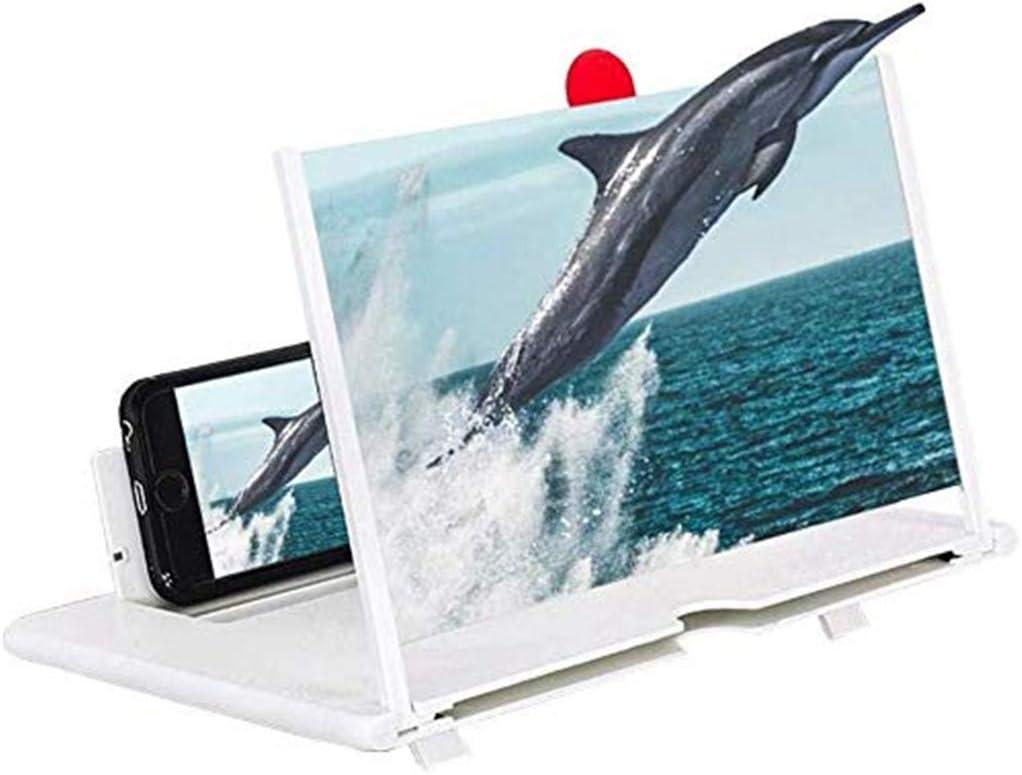 Faltbarer Film-Video-Bildschirmvergr/ö/ßerungs-Projektor Der Lupe-3D F/ür Handy PPTOOL 12-Zoll-Telefon-Bildschirmverst/ärker-Lupe HD-Bildschirmverst/ärker Mit Standplatzhalter,A